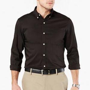 Dockers black chest pocket button up dress shirt